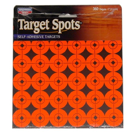 "Image for 1"" Flourescent Red Self Adhesive Target Spots 10 Pack 360 Targets"