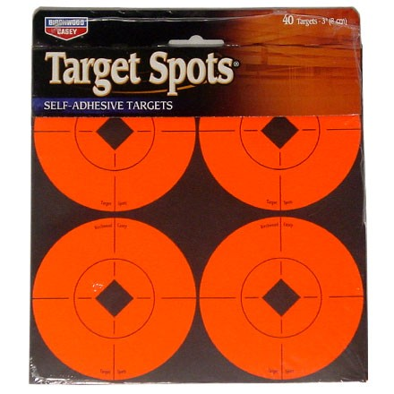 "3"" Flourescent Red Self Adhesive Target Spots 40-3"" (10 Pack)"