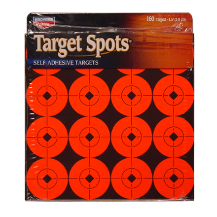 "1.5"" Flourescent Red Self Adhesive Target Spots 160 - 1.5"" targets (10 Sheets)"