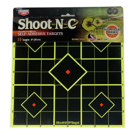 "Image for Shoot-N-C 8"" Sight-In Adhesive Target (12 Pack)"