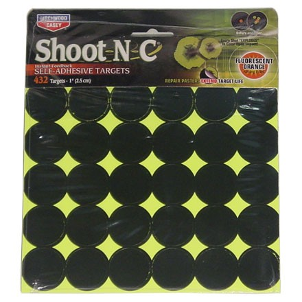 "Image for Shoot-N-C 1"" Round Adhesive Target 432 Targets (12 Pack)"