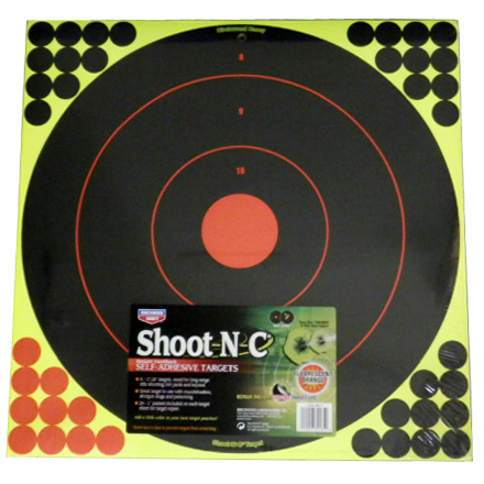 "Image for Shoot-N-C 17.25"" Bullseye Target 5 Targets"