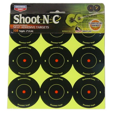 "Image for Shoot-N-C 2"" Round Bulls Eye Adhesive Target 108 Targets (12 Pack)"