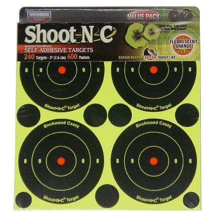 "Image for Shoot-N-C 3"" Round Bulls Eye Adhesive Target 240 Targets (60 Pack)"