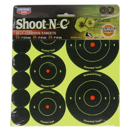 "Image for Shoot-N-C Round Adhesive Target 72-1"", 36-2"", 24-3"" (12 Pack)"