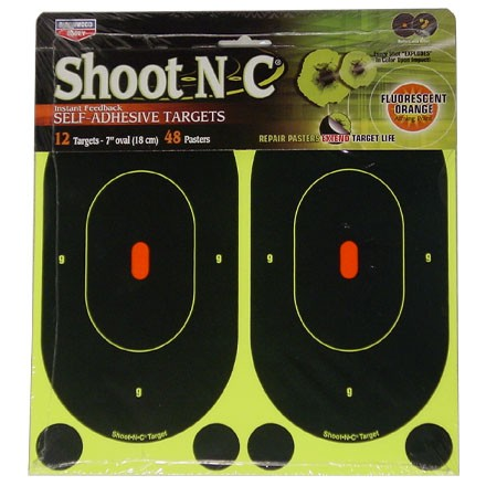 "Image for Shoot-N-C 7"" Oval Adhesive Target (12 Pack)"