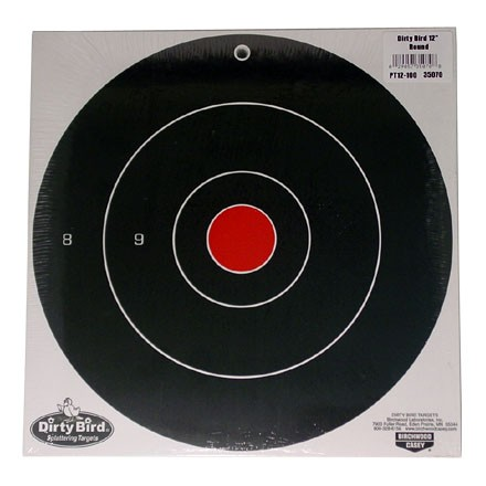 "Dirty Bird 12"" Round Bulls Eye Splattering Target (100 Pack)"