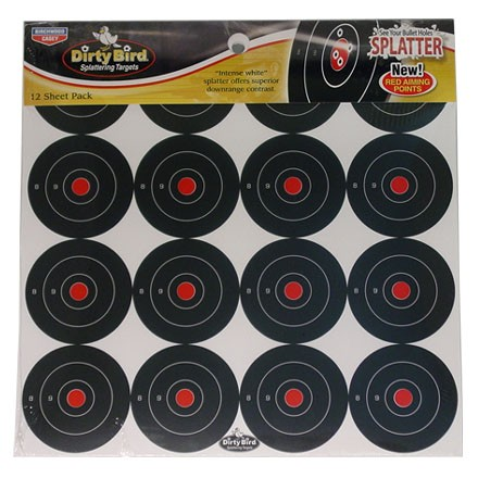 "Image for Dirty Bird 3"" Round Bulls Eye Splattering Target (12 Pack)"