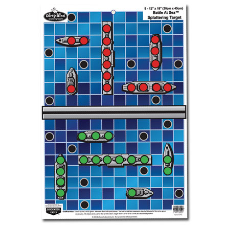 "Dirty Bird 12x18"" Battle At Sea Game Splattering Target (8 Pack)"