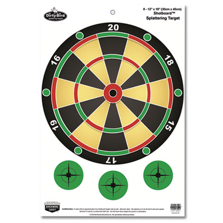 "Dirty Bird 12x18"" Shotboard Game Splattering Target (8 Pack)"