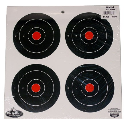"Dirty Bird 5.5"" Round Bulls Eye Splattering Target (100 Pack)"