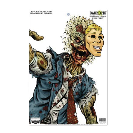 "Image for Darkotic Zombie 12x18"" Fine Print Splattering Target (8 Pack)"
