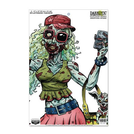 "Darkotic Zombie 12x18"" Shopping Spree Splattering Target (8 Pack)"