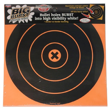 "Image for Big Burst 12"" Round Bulls Eye Self Adhesive Splattering Target (25 Pack)"