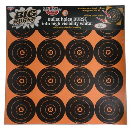 "Big Burst 3"" Round Bulls Eye Self Adhesive Splattering Target 48 Targets (3 Pack)"