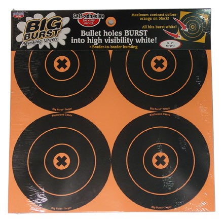 "Image for Big Burst 6"" Round Bulls Eye Self Adhesive Spalttering Target 12 Targets (3 Pack)"