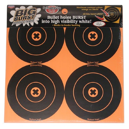 "Image for Big Burst 6"" Round Bulls Eye Self Adhesive Splattering Target 100 Targets (25 Pack)"