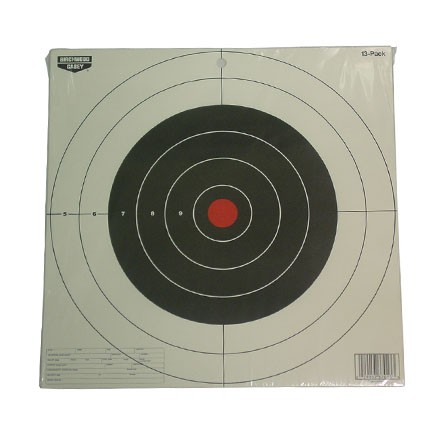 "Image for Plain Paper EZE-Scorer 12"" Round Bulls Eye Target (13 Pack)"