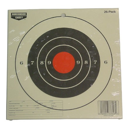 "Image for Plain Paper EZE-Scorer 8"" Round Bulls Eye Target (26 Pack)"