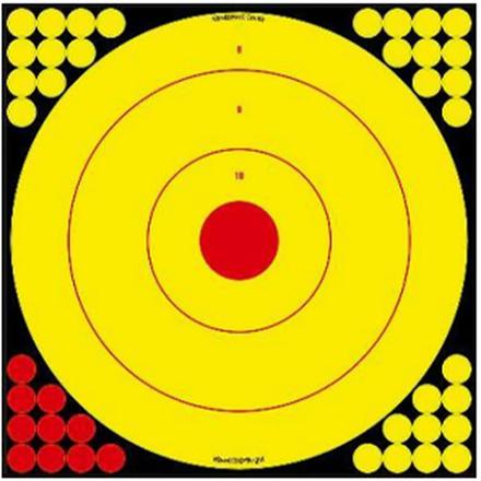Long Range Bullseye Target 5 Pack