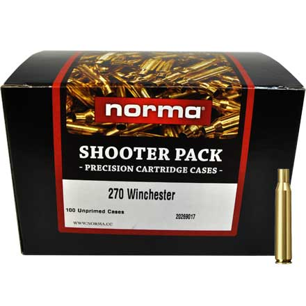 .270 Winchester Unprimed Brass 100 Count Shooter Pack