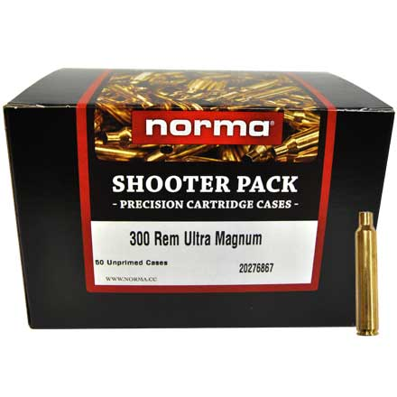 300 Remington Ultra Mag Unprimed Brass 50 Count Shooter Pack
