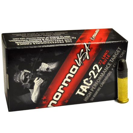 Tactical 22 LR (Long Rifle) 40 Grain Target Lead Round Nose 50 Rounds