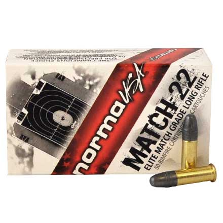 Match 22 LR (Long Rifle) 40 Grain Lead Round Nose 50 Rounds
