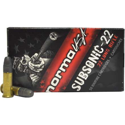 Subsonic 22 LR (Long Rifle) 40 Grain Lead Hollow Point 50 Rounds