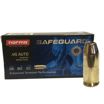 45 Auto SafeGuard JHP 230 Grain 50 Rounds