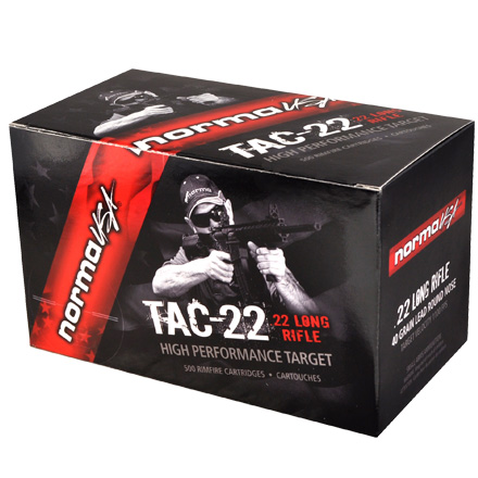 Tactical 22 LR (Long Rifle) 40 Grain Target Lead Round Nose 500 Round Brick