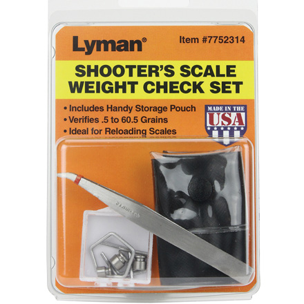 Shooters Check Weight Set
