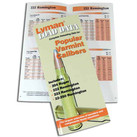 Popular Varmint Calibers Load Data Book