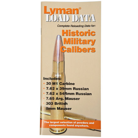 Old Military Calibers Load Data Book