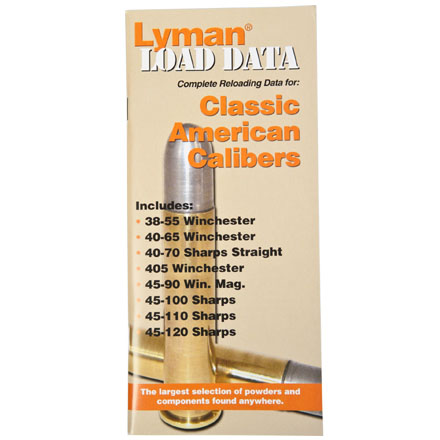 Classic American Calibers Load Data Book