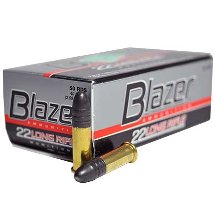 22 LR (Long Rifle) 40 Grain High Speed Blazer 50 Rounds