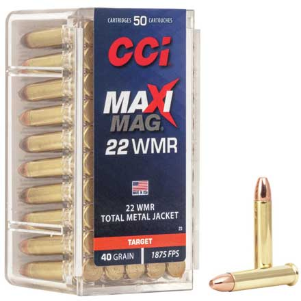 22 WMR 40 Grain High Speed Maxi-Mag 50 Rounds