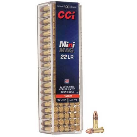 22 LR (Long Rifle) 40 Grain High Speed Mini-Mag 100 Rounds