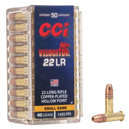 22 LR (Long Rifle) 40 Grain Velocitor Gold Dot Hollow Point 50 Rounds