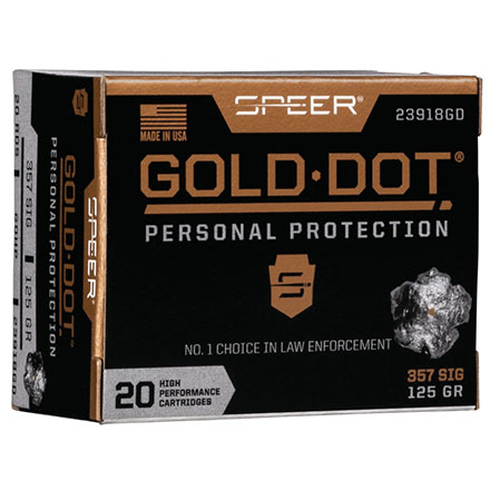 357 SIG 125 Grain Gold Dot Hollow Point 20 Rounds
