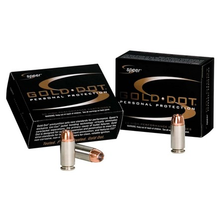 Image for 40 S&W 180 Grain Gold Dot Hollow Point Short Barrel 20 Rounds