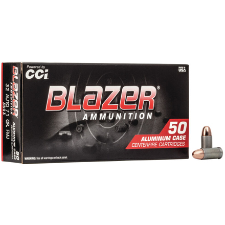 32 Auto 71 Grain Blazer Total Metal Jacket 50 Rounds