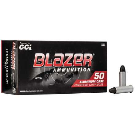 38 Special 158 Grain Blazer Round Nose Lead 50 Rounds