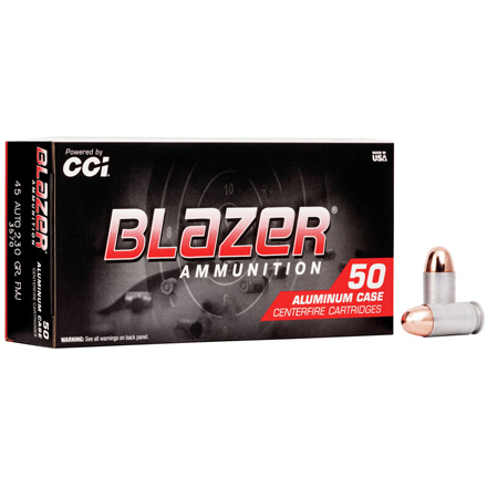 45 ACP 230 Grain Blazer Full Metal Jacket 50 Rounds