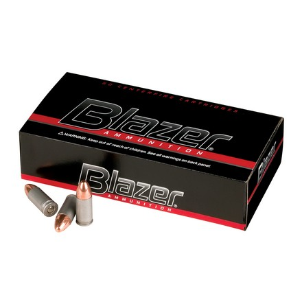 9mm Luger 124 Grain Blazer Full Metal Jacket 50 Rounds
