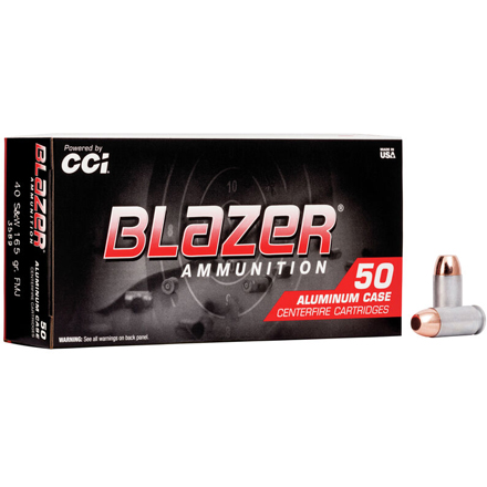 40 S&W 165 Grain Blazer Total Metal Jacket 50 Rounds