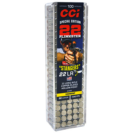 Special Edition Plinkster Stangers 22 LR (Long Rifle) 32 Grain Copper Plated Hollow Point 100 Rounds