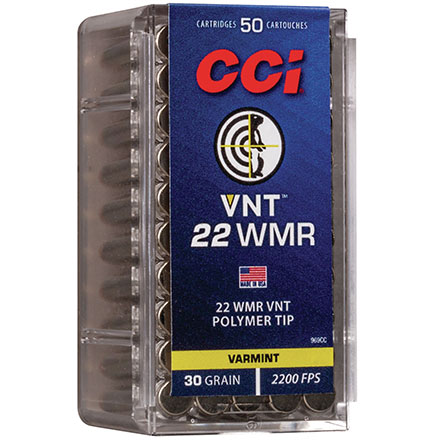 22 WMR 30 Grain VNT 50 Rounds
