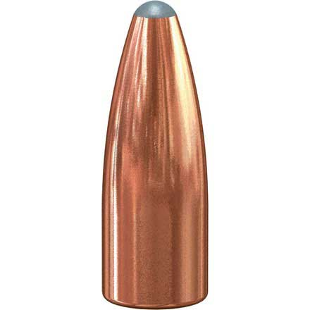 22 Caliber .224 Diameter 50 Grain Spitzer Soft Point 100 Count