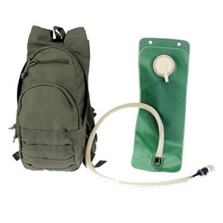 Hydration Pack With 3 Liter Water Bladder and Mouthpiece Green